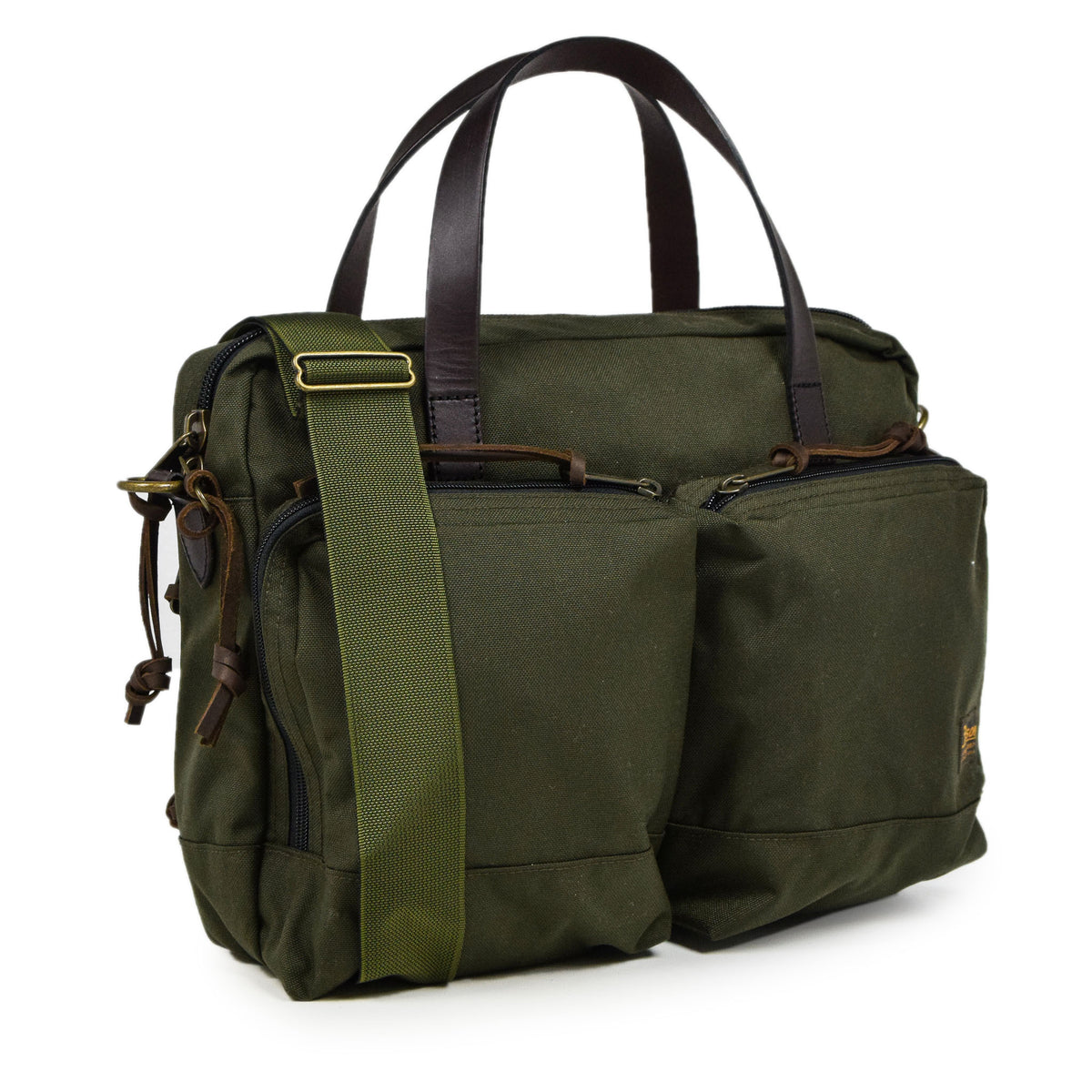 Filson Dryden Briefcase Shoulder Bag Otter Green Side