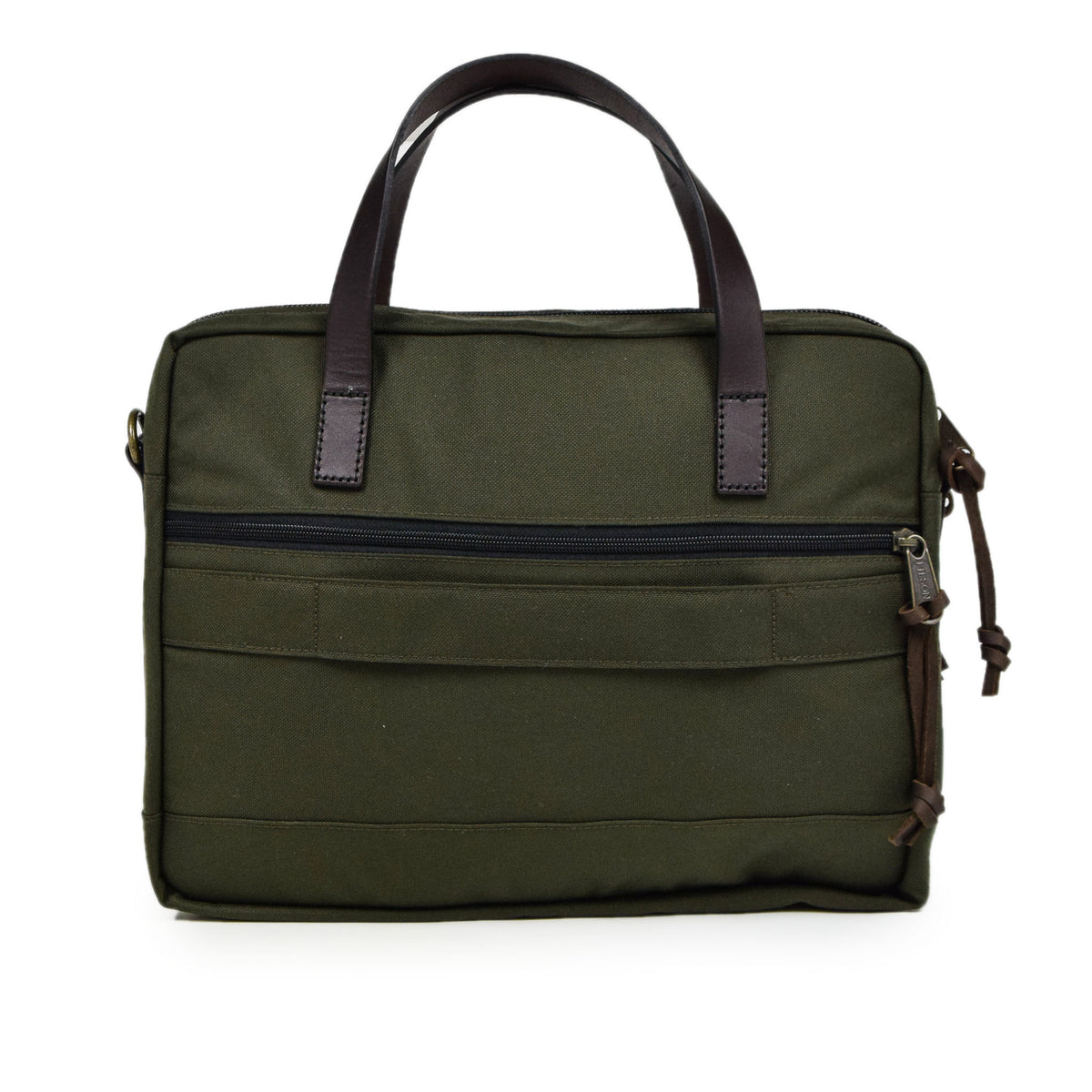 Filson Dryden Briefcase Shoulder Bag Otter Green Back