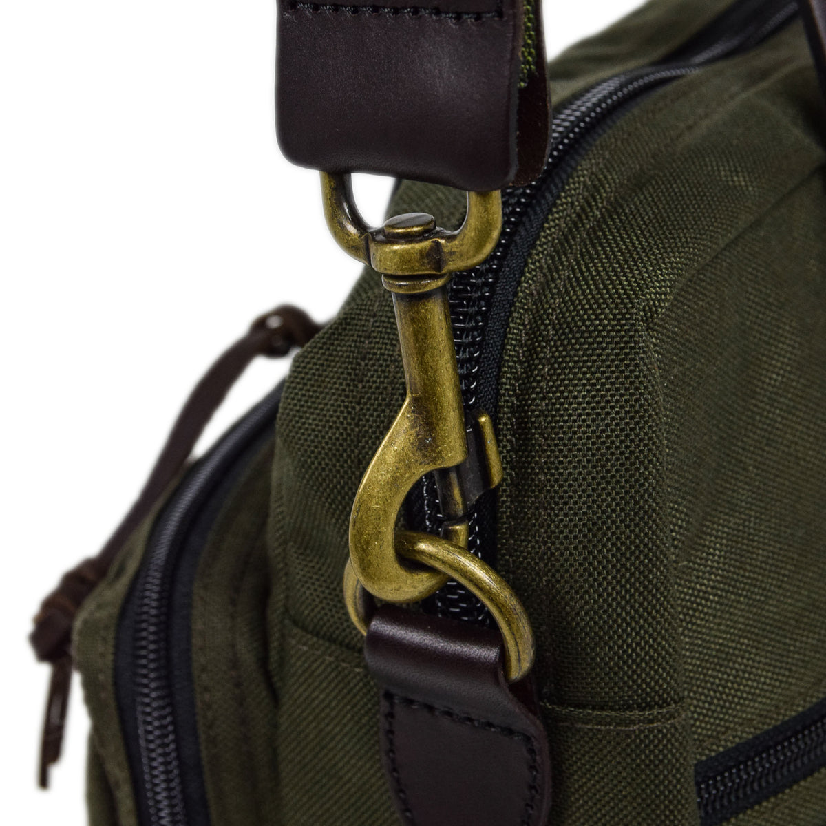 Filson Dryden Briefcase Shoulder Bag Otter Green Strap Attachment