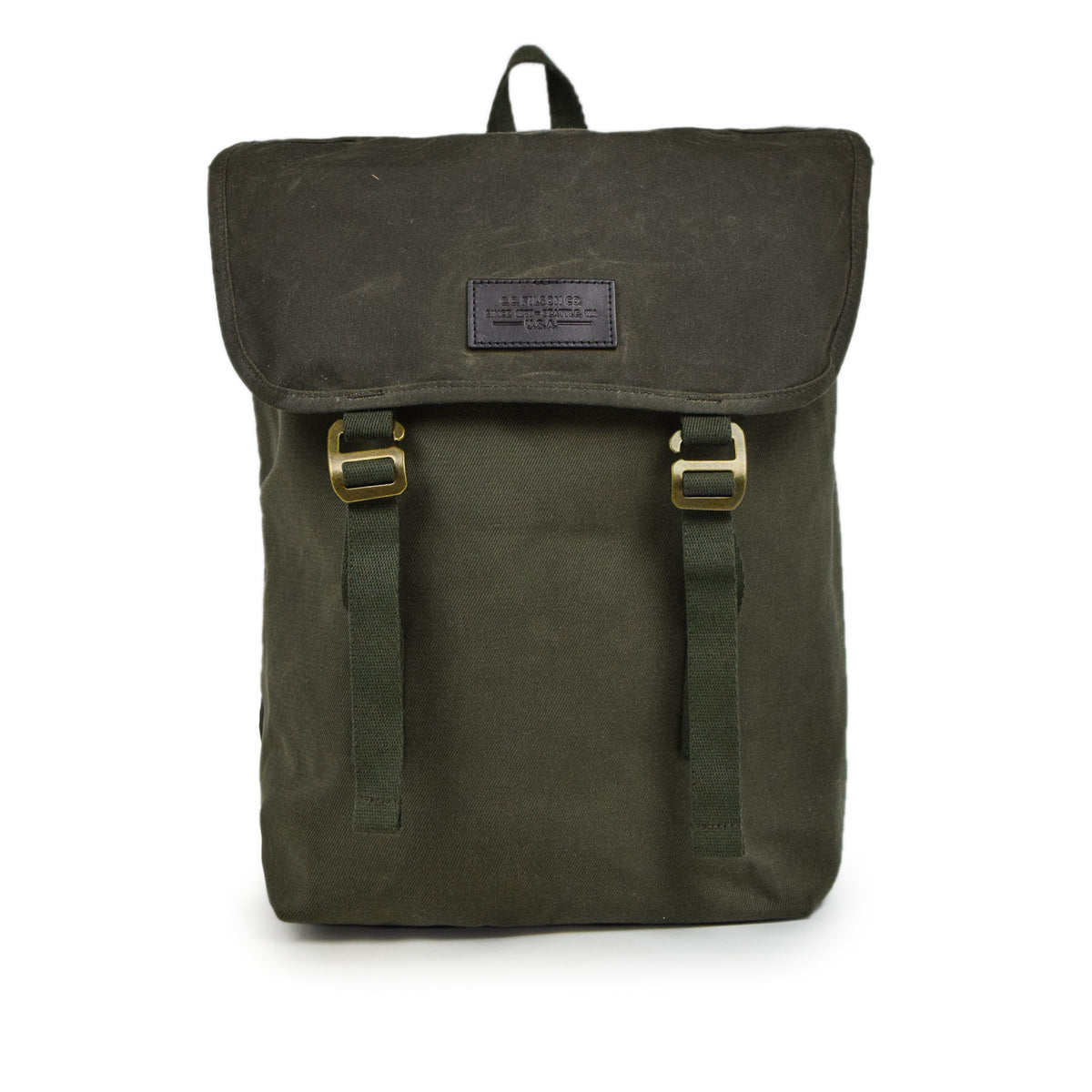 Filson Rugged Twill Ranger Backpack Otter Green Front
