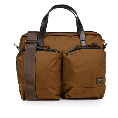 Filson Dryden Cordura Nylon Briefcase Shoulder Bag Whiskey Front
