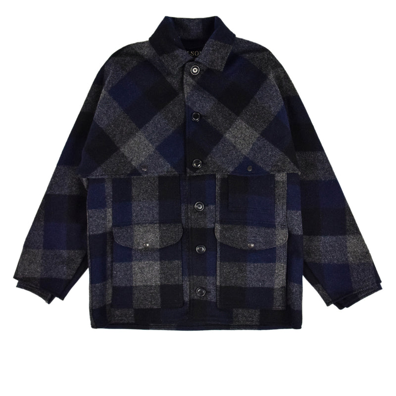 Filson Double Mackinaw Cruiser Navy Plaid Limited Edition Jacket Front