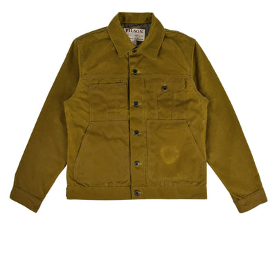 Filson Short Lined Tin Cloth Cruiser Jacket Dark Tan front