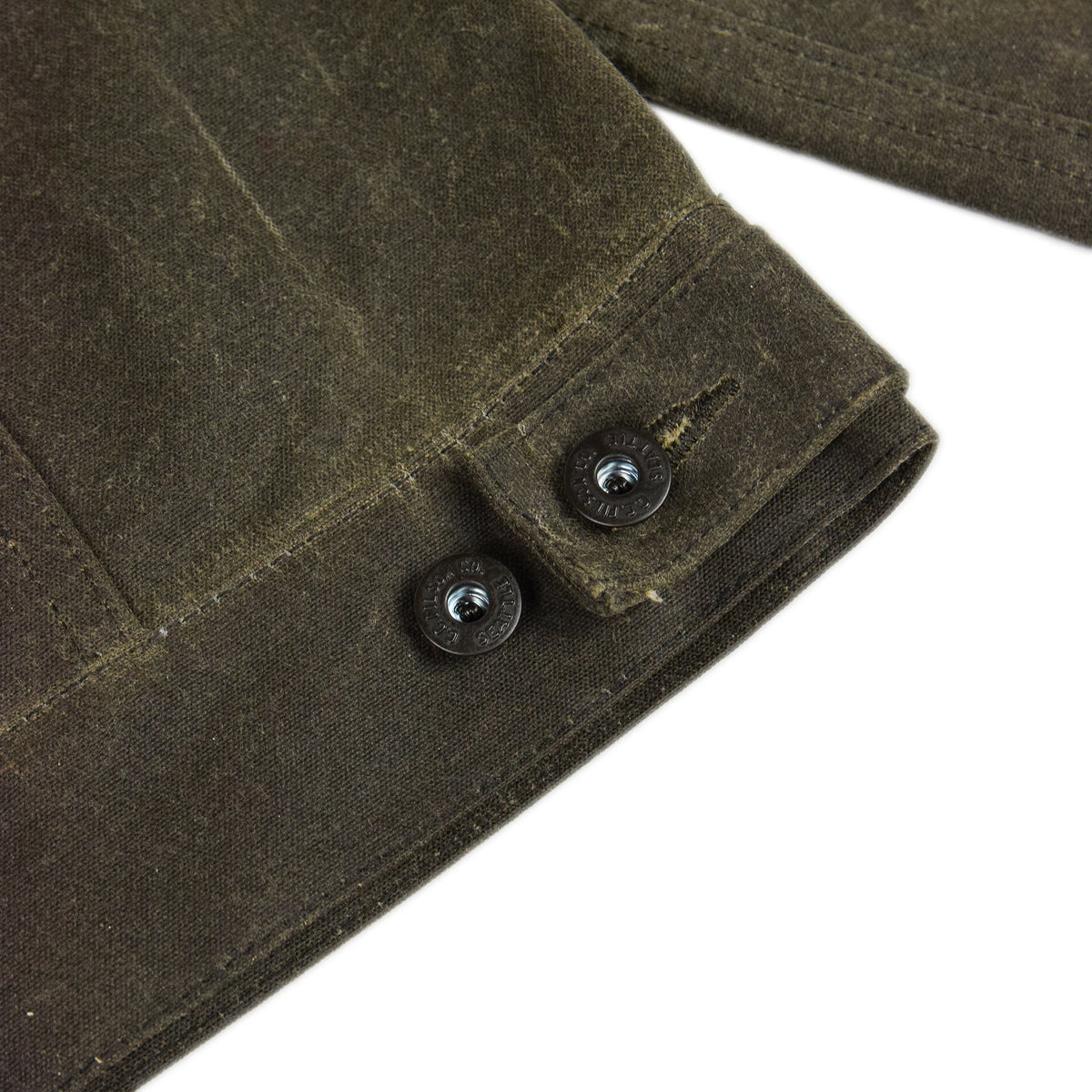Filson Short Lined Tin Cloth Cruiser Jacket Brown Back Detail