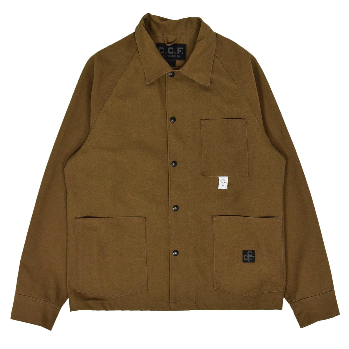 Filson CCF Duck Canvas Chore Coat Sepia front