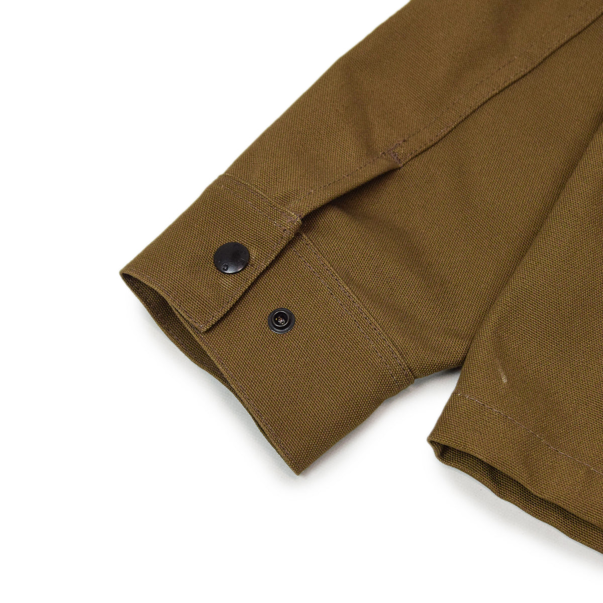Filson CCF Duck Canvas Chore Coat Sepia cuff detail