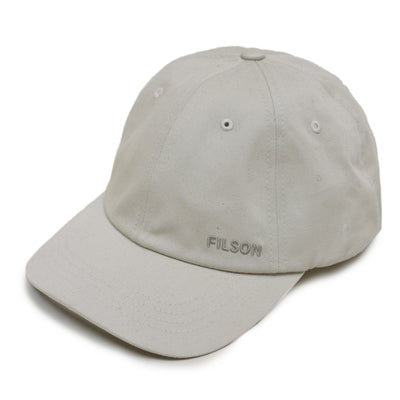 Filson Twill Low Profile Cap Stone front