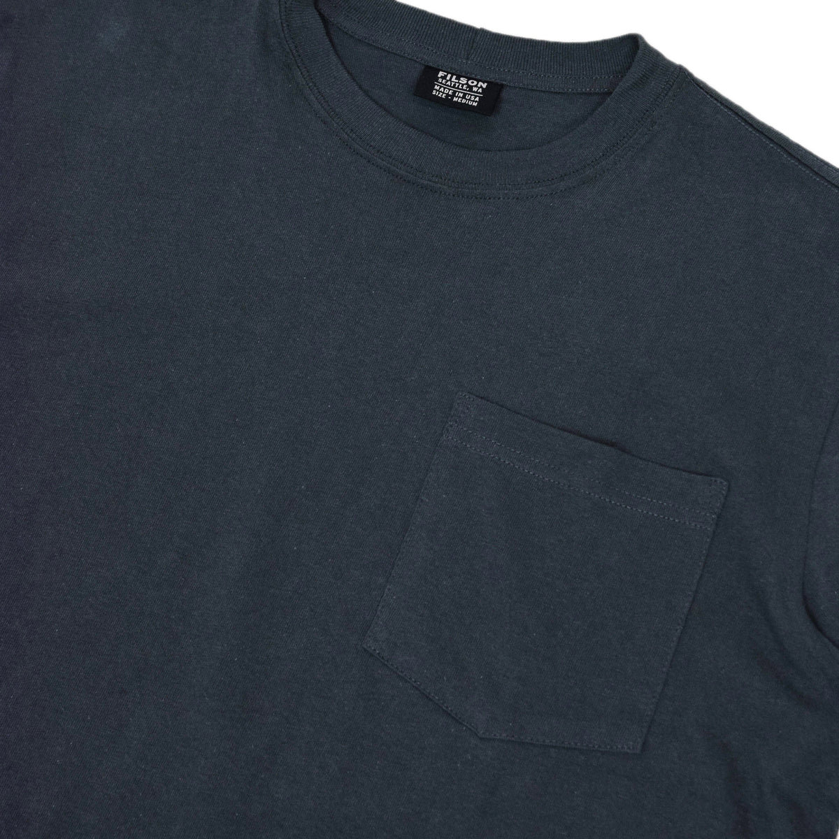 Filson Short Sleeve Outfitter One Pocket T-Shirt Ink Blue chest