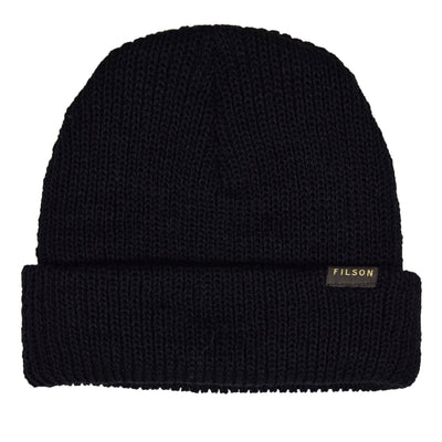 Filson Pure Virgin Wool Watch Cap Black Made in USA front
