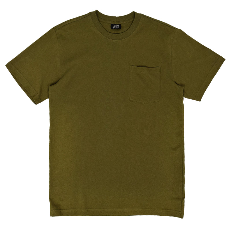 Filson Short Sleeve Outfitter One Pocket T-Shirt Olive Drab FRONT