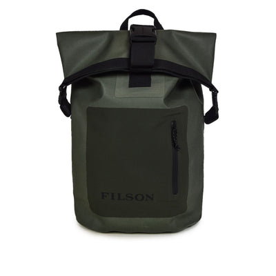 Filson Logo Print Nylon Dry Bag backpack Green front