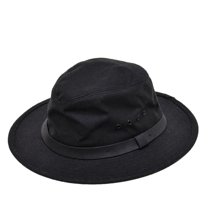 Filson Original Tin Cloth Packer Hat Black front