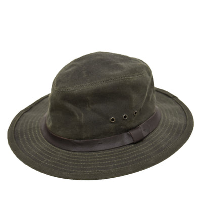 Filson Original Tin Cloth Packer Hat Otter Green front