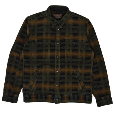 Filson Beartooth Cotton Camp Jacket Black Olive front