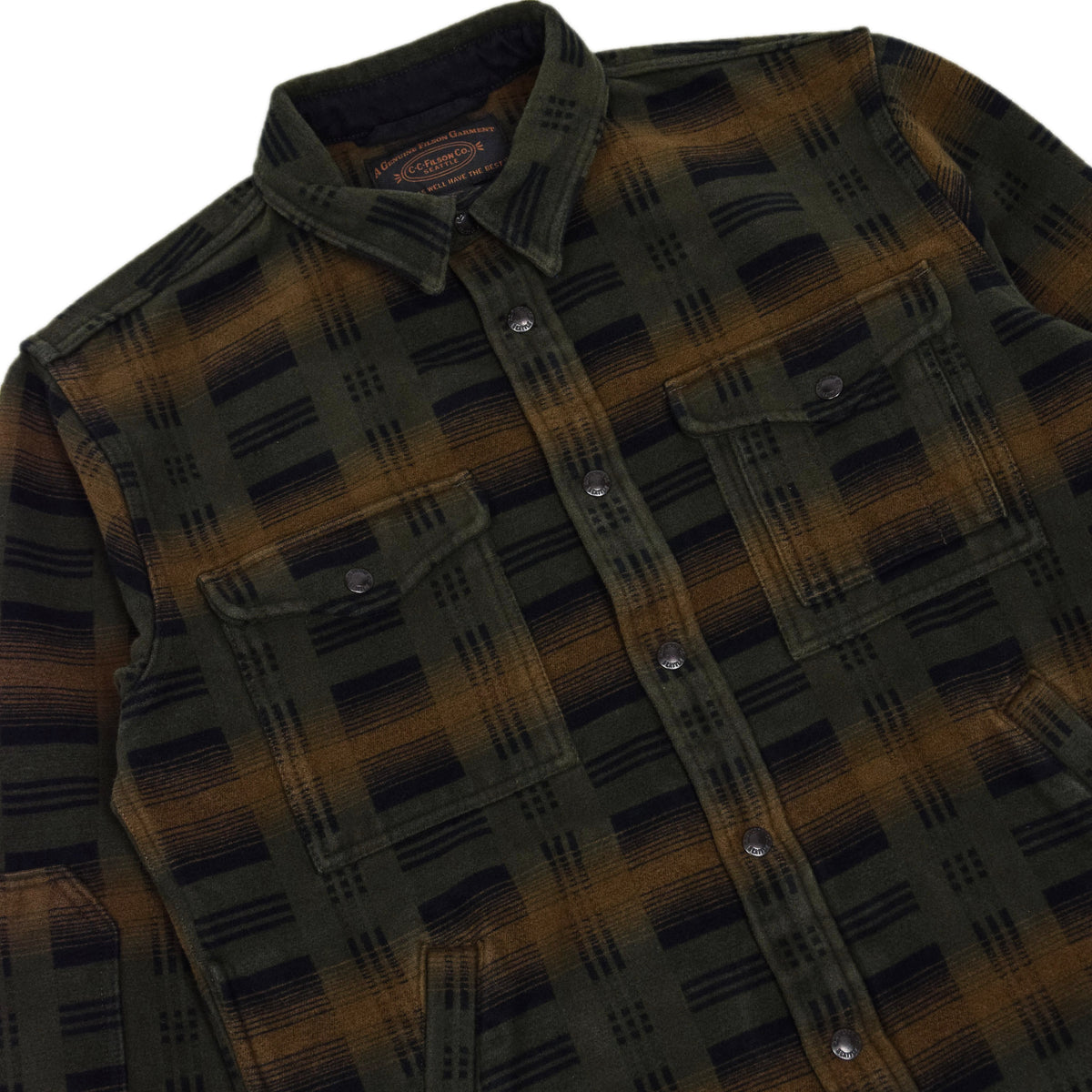 Filson Beartooth Cotton Camp Jacket Black Olive chest
