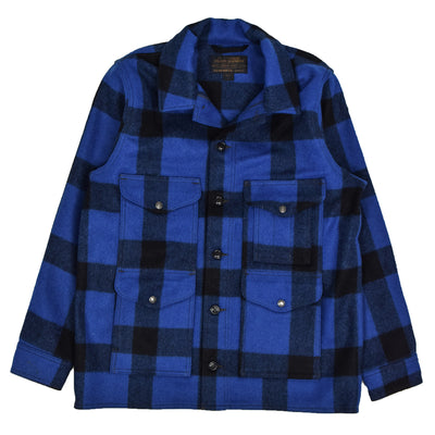 Filson Mackinaw Wool Cruiser Jacket Cobalt Blue front