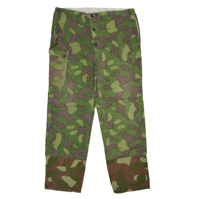 Vintage Military Finnish M62 Army Camo Mountain Field Trousers 34-36 W FRONT