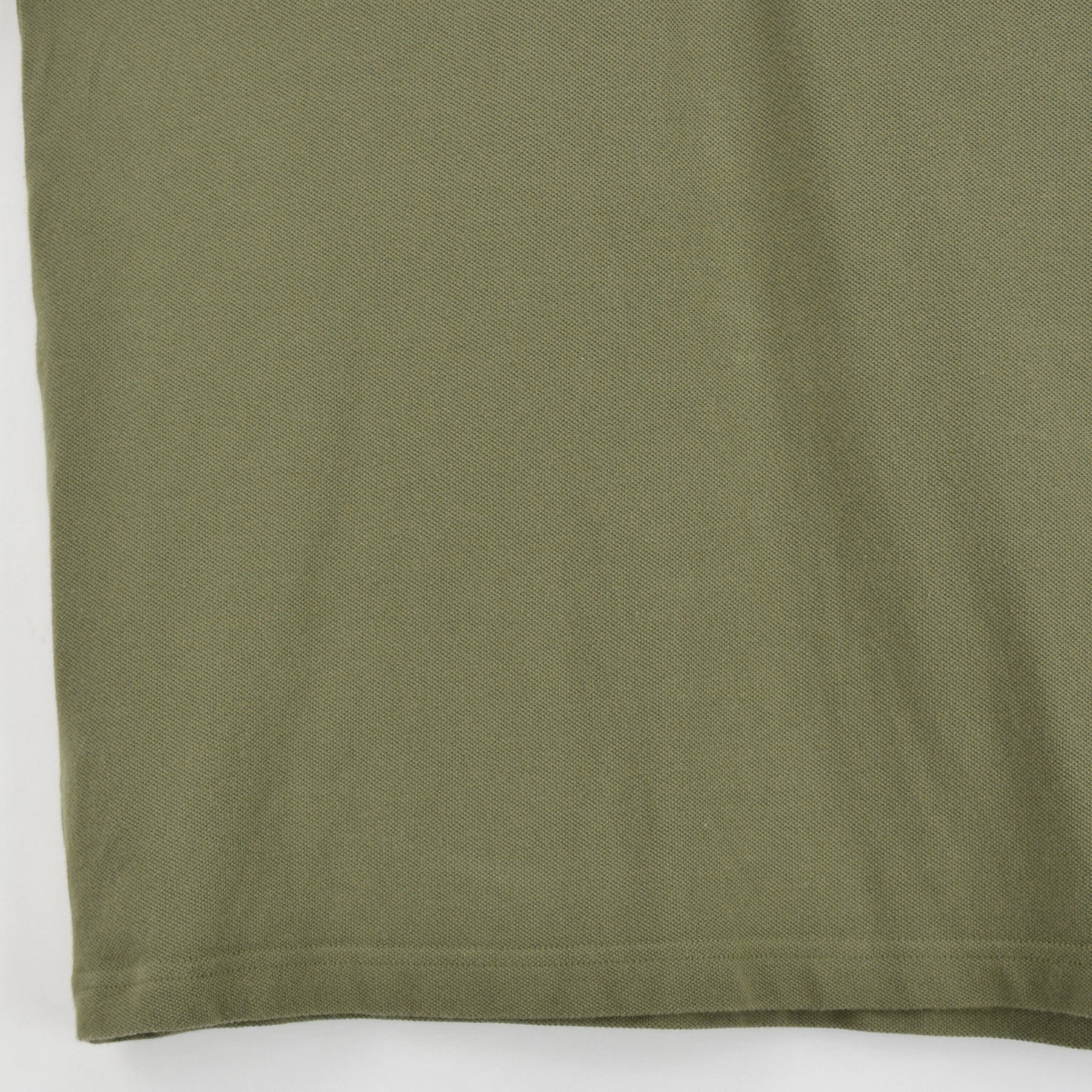 Vintage Fred Perry Green Short Sleeved Military Style Polo Shirt M front hem
