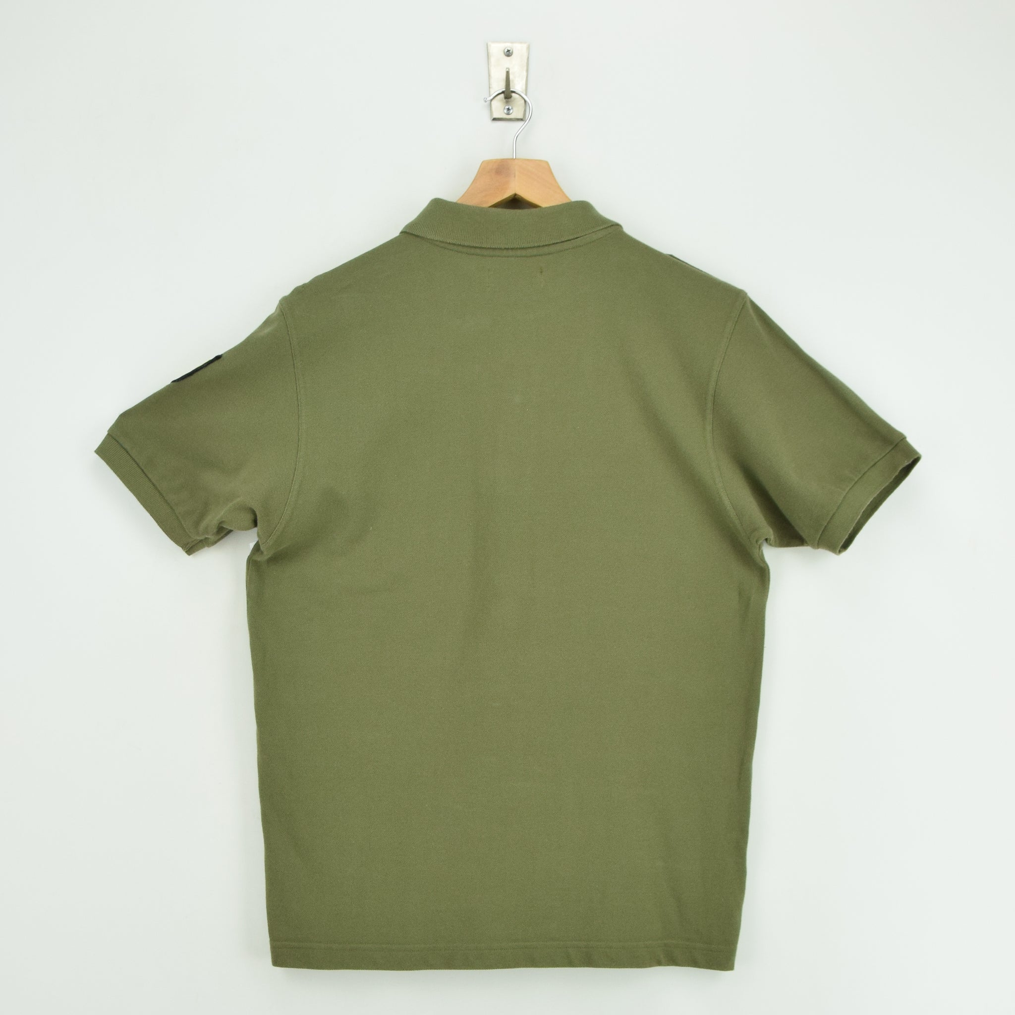 Vintage Fred Perry Green Short Sleeved Military Style Polo Shirt M back