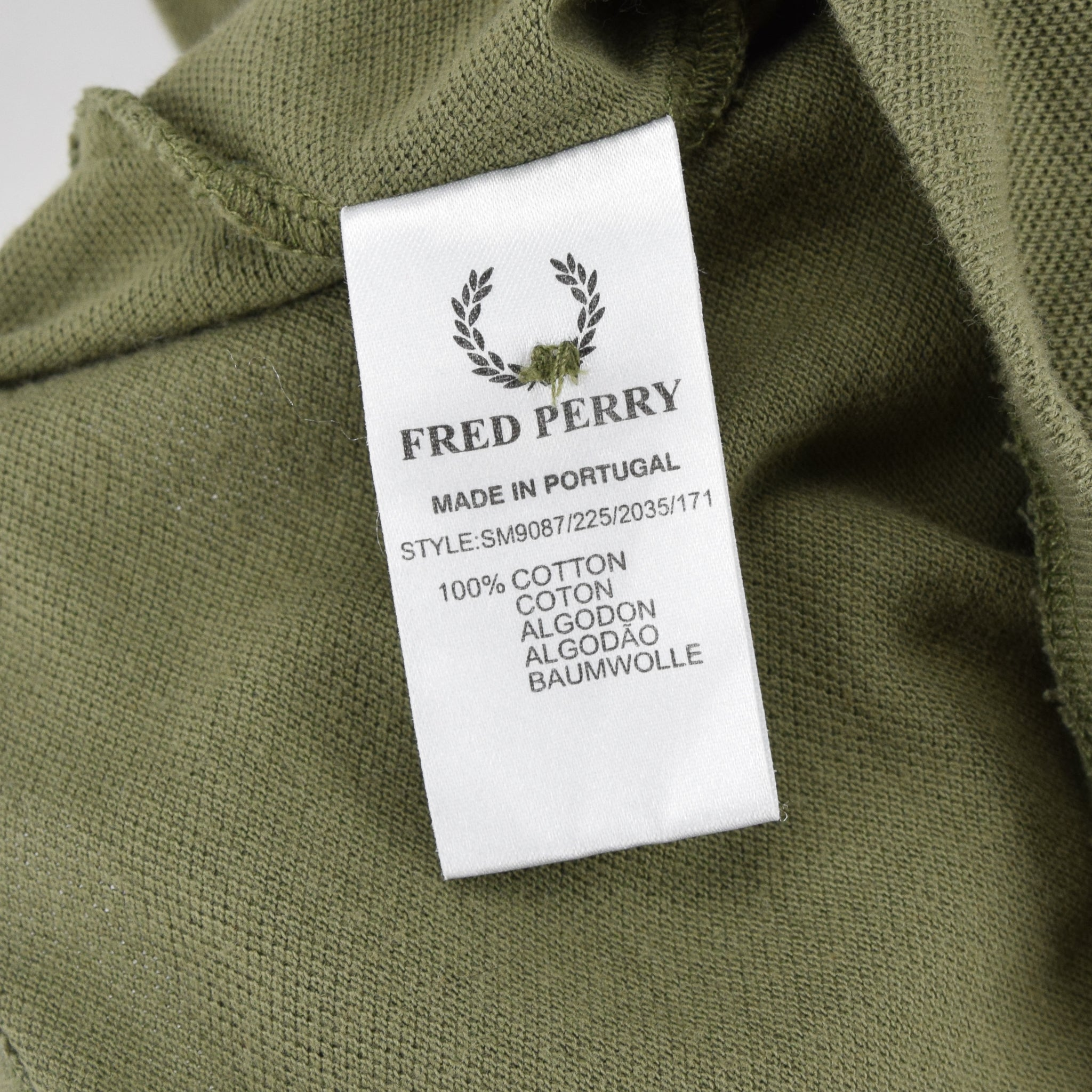 Vintage Fred Perry Green Short Sleeved Military Style Polo Shirt M label