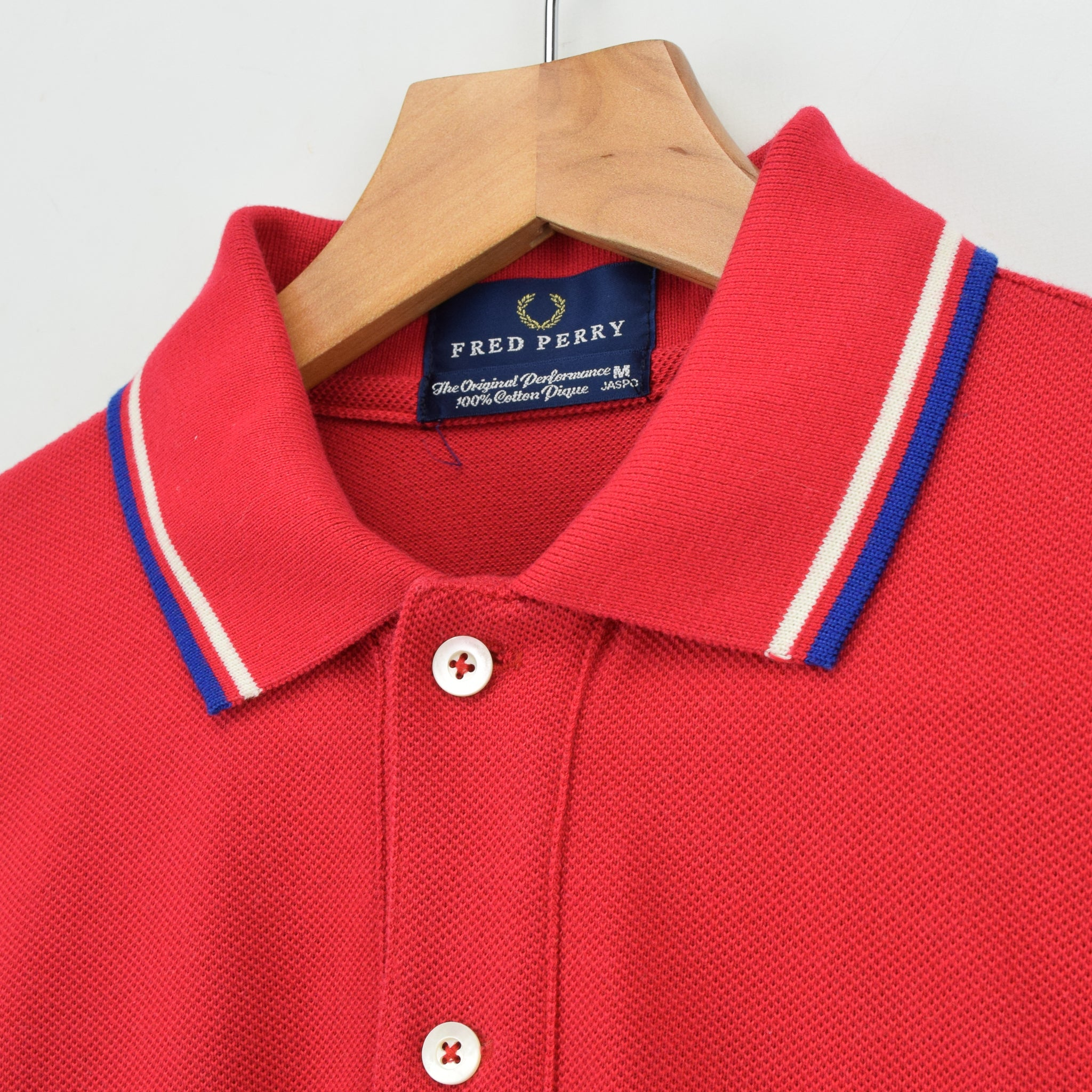 Rare Fred Perry Dark Pink Jaspo Short Sleeved Cotton Pique Polo Shirt M collar