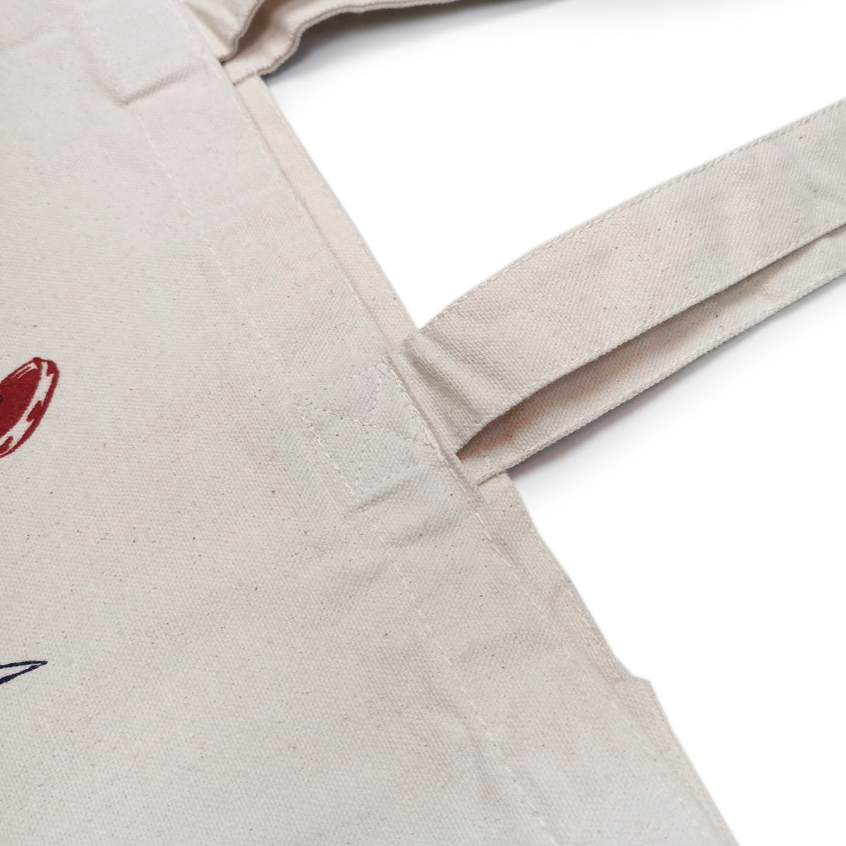 1920 Tattoo X COMMON ILKE VINTAGE Fish Lady Print Cotton Canvas Tote Bag handle