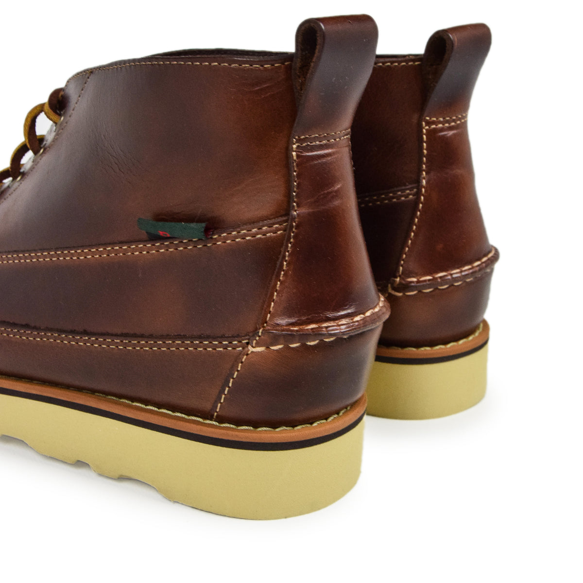 G.H. Bass & Co. Camp Moc III Ranger Pull Up Dark Brown Leather