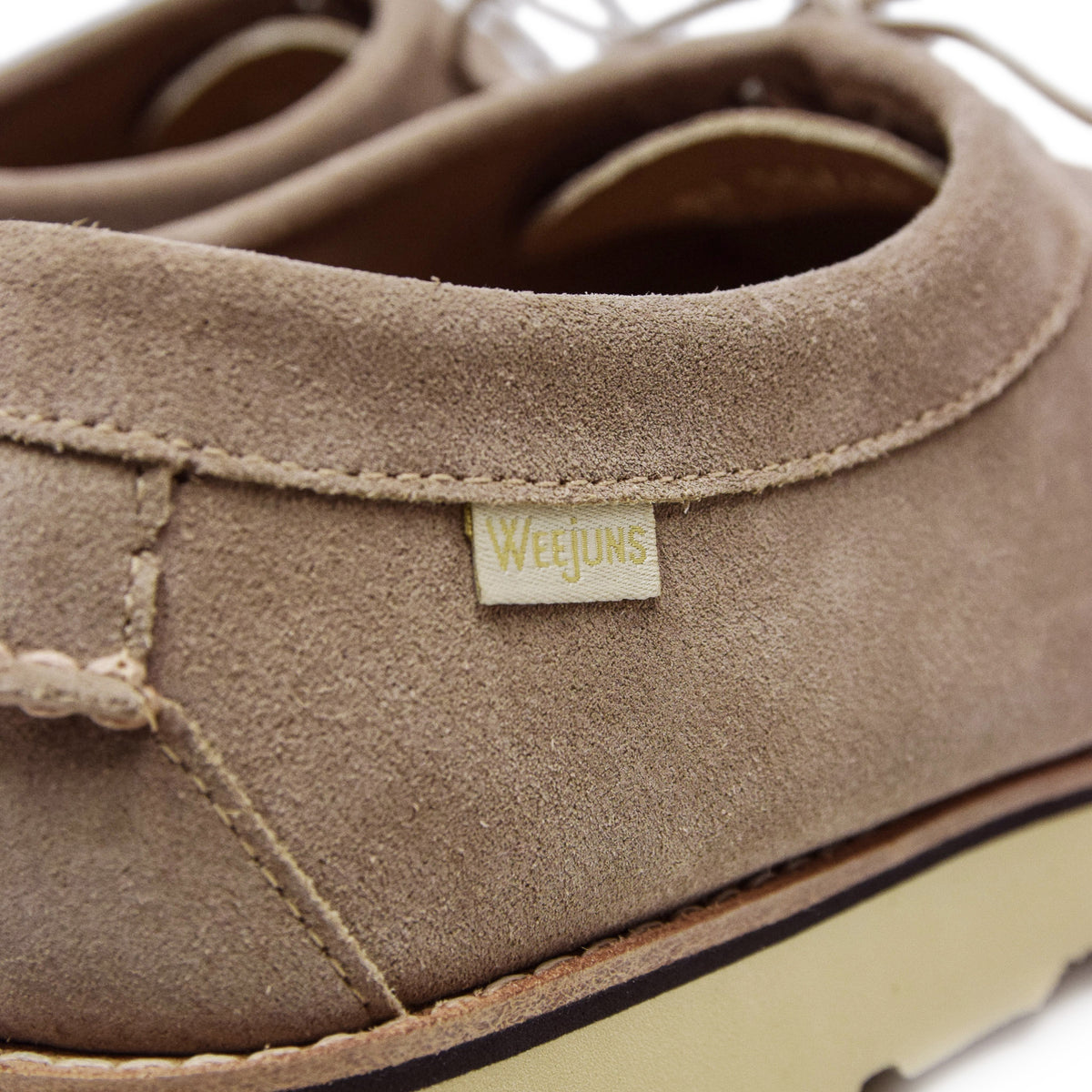 G.H. Bass & Co. Weejun Wedge Tie Reverso Earth Suede tab