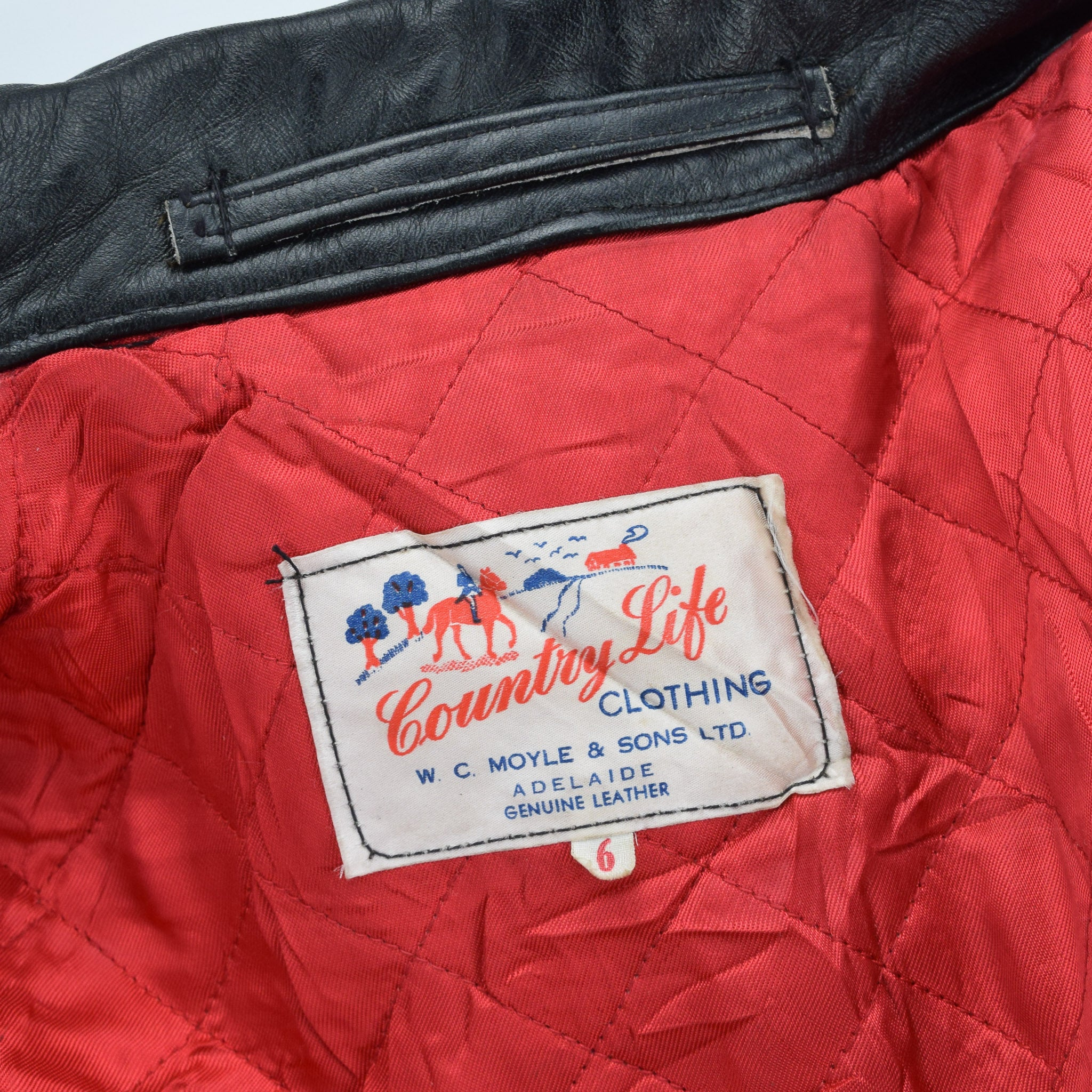 Vintage Country Life Adelaide Belted Leather Outdoor Jacket Lightning Zips M label