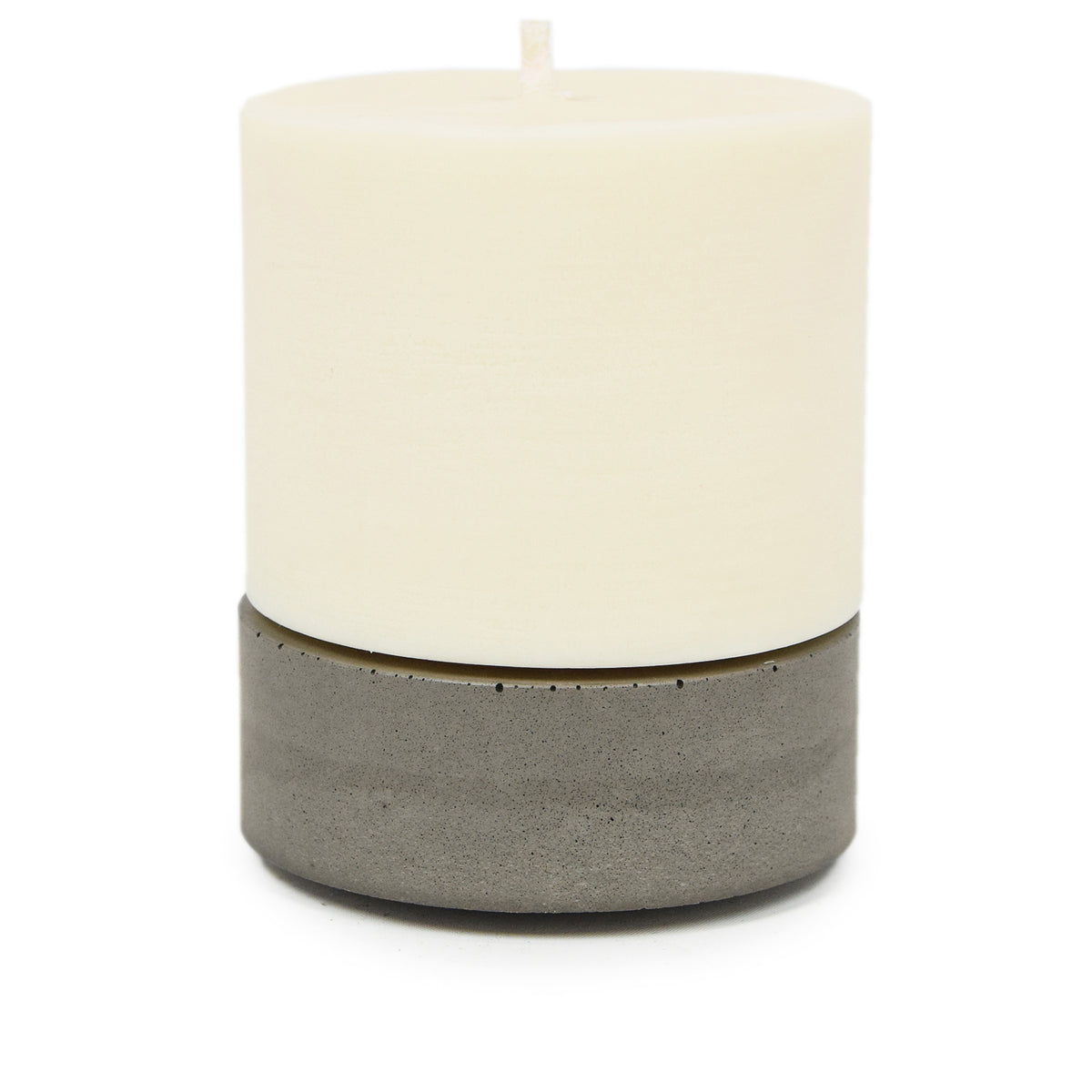 Concrete & Wax Amber Noir Candle And Grey Concrete Holder Large CANDLE