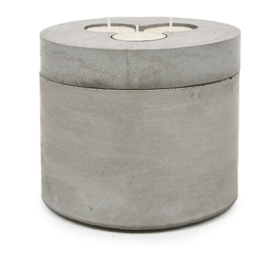 Concrete & Wax Tobacco and Oak Soy Wax Candle Concrete Grey Pot X-Large front