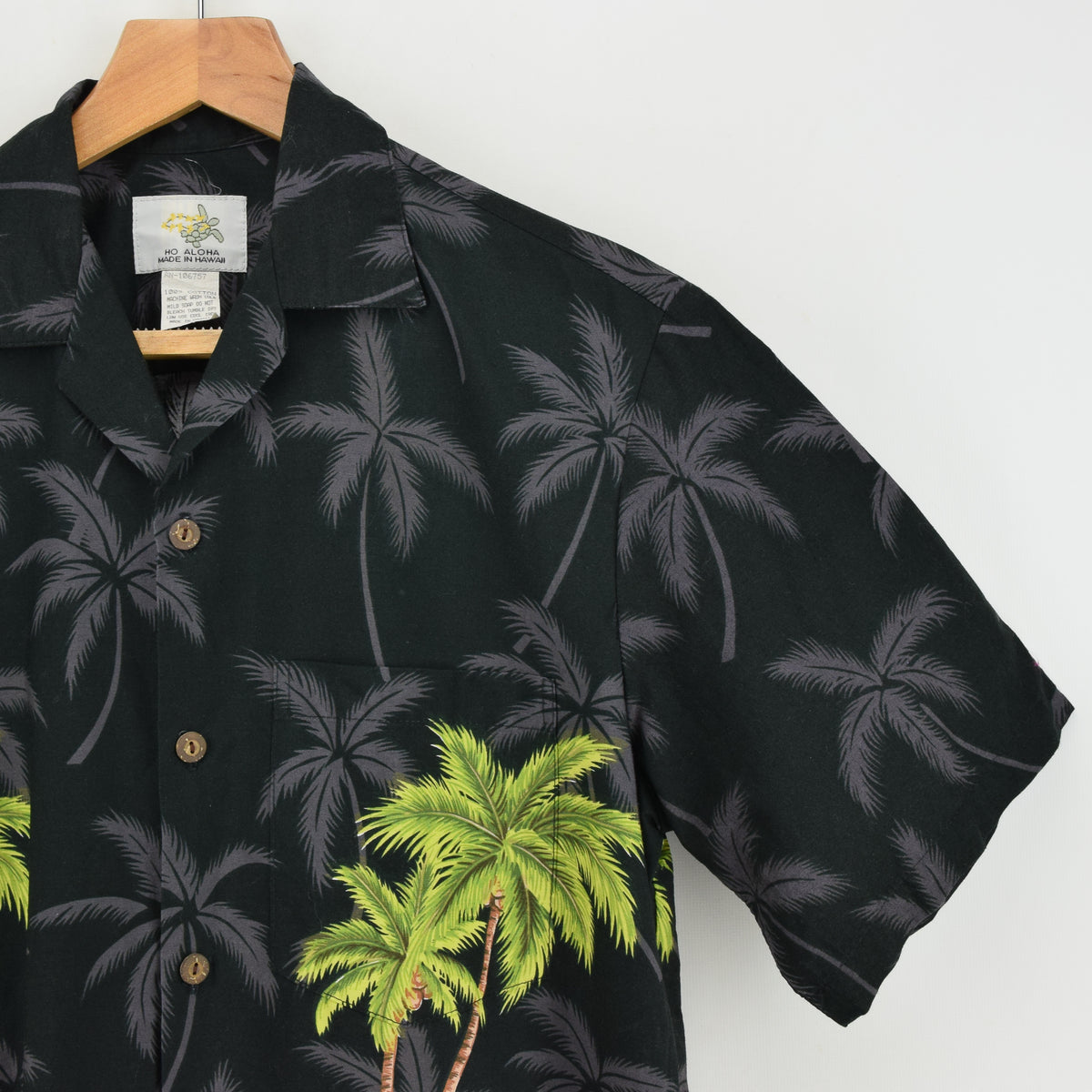 Vintage Hawaiian Beach Aloha Holiday Shirt Made in USA Short Sleeve S chest