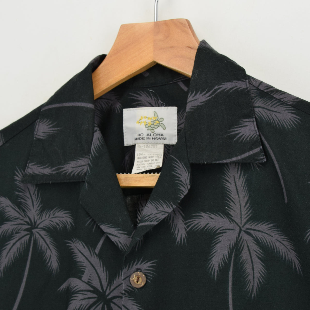 Vintage Hawaiian Beach Aloha Holiday Shirt Made in USA Short Sleeve S collar