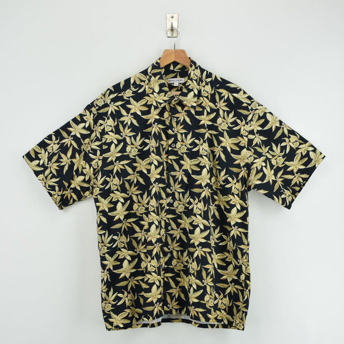 Vintage Hawaiian Beach Aloha Holiday Tropical Cotton Shirt Short Sleeve XL / XXL front