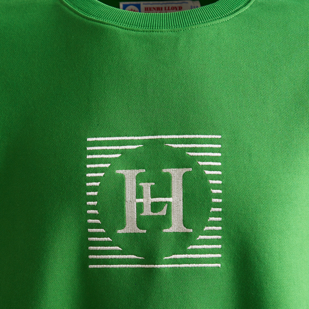 Henri Lloyd X Nigel Cabourn Technical Sweater Emerald Green Logo