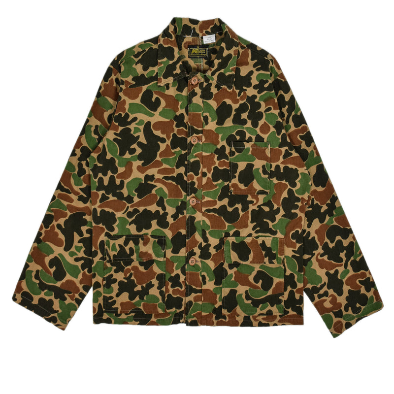 Vintage Kmart Camouflage Hunting Shooting Cotton Shirt Jacket L front