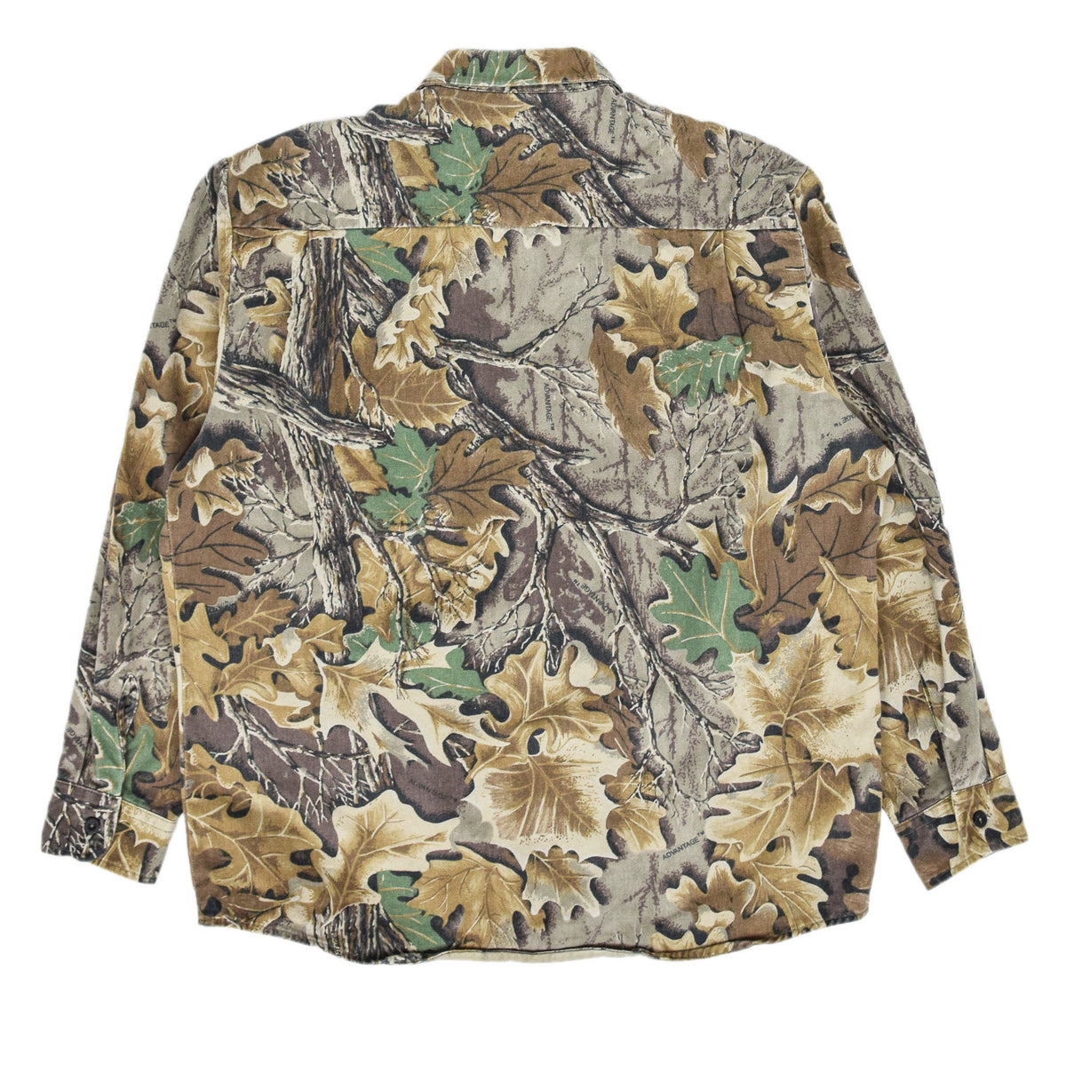 Vintage Wall's Leaf Camouflage Hunting Shooting Cotton Long Sleeve Shirt XL back