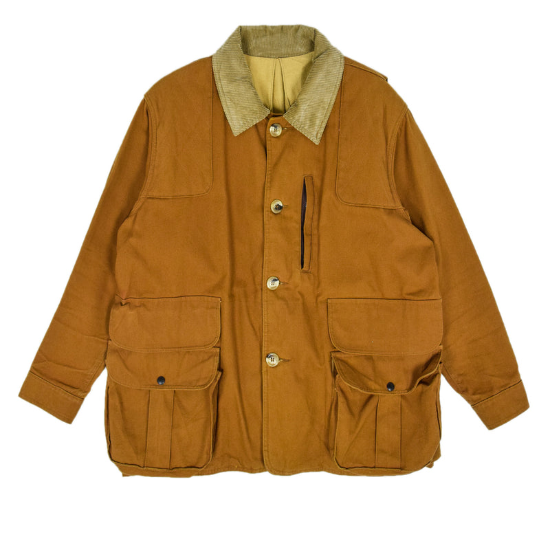 Vintage Red Head Hunting Tan Brown Canvas Shooting Field Jacket USA Made L / XL front