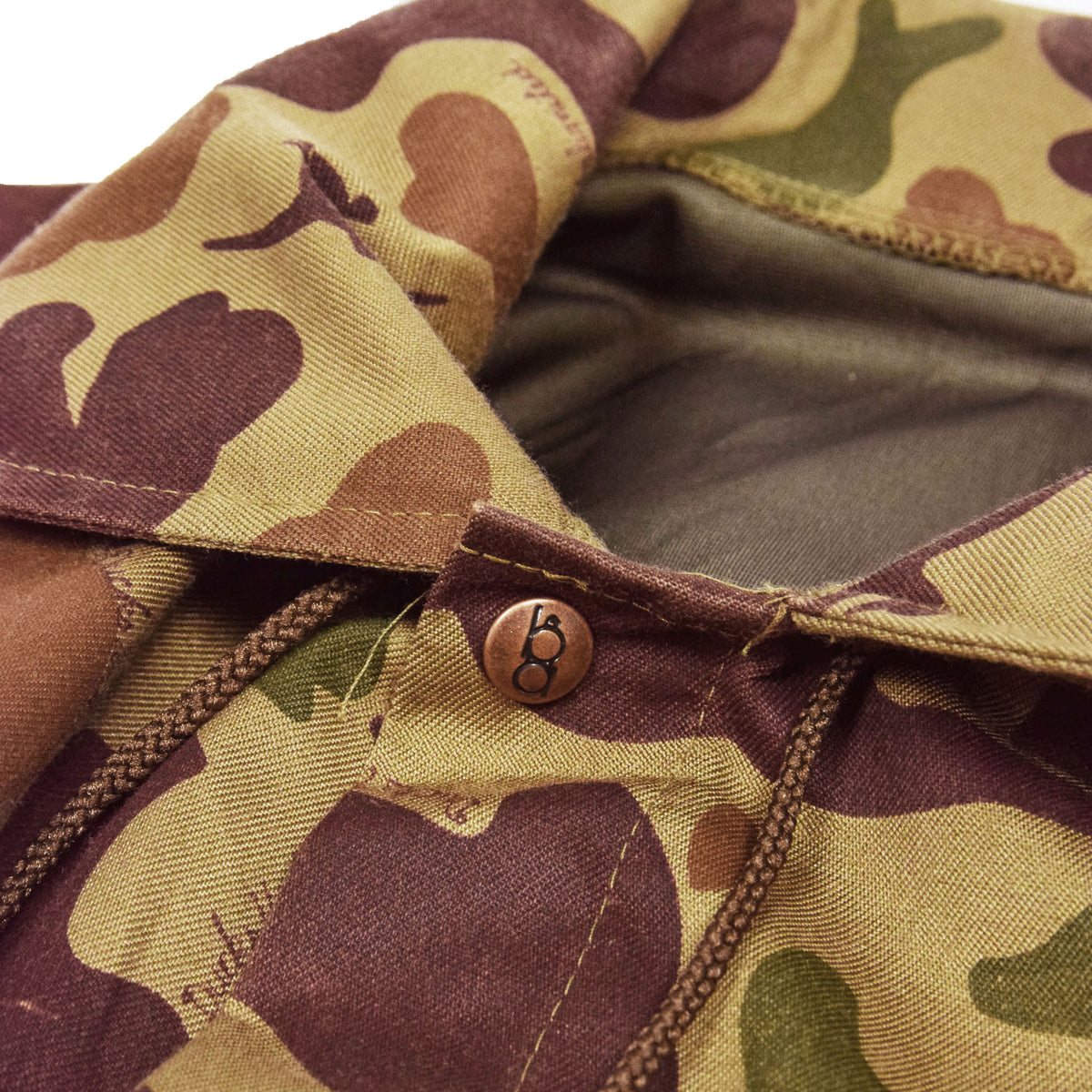 Vintage Bob Allen Gore-Tex Outdoor Camo Hunting Jacket L / XL collar detail