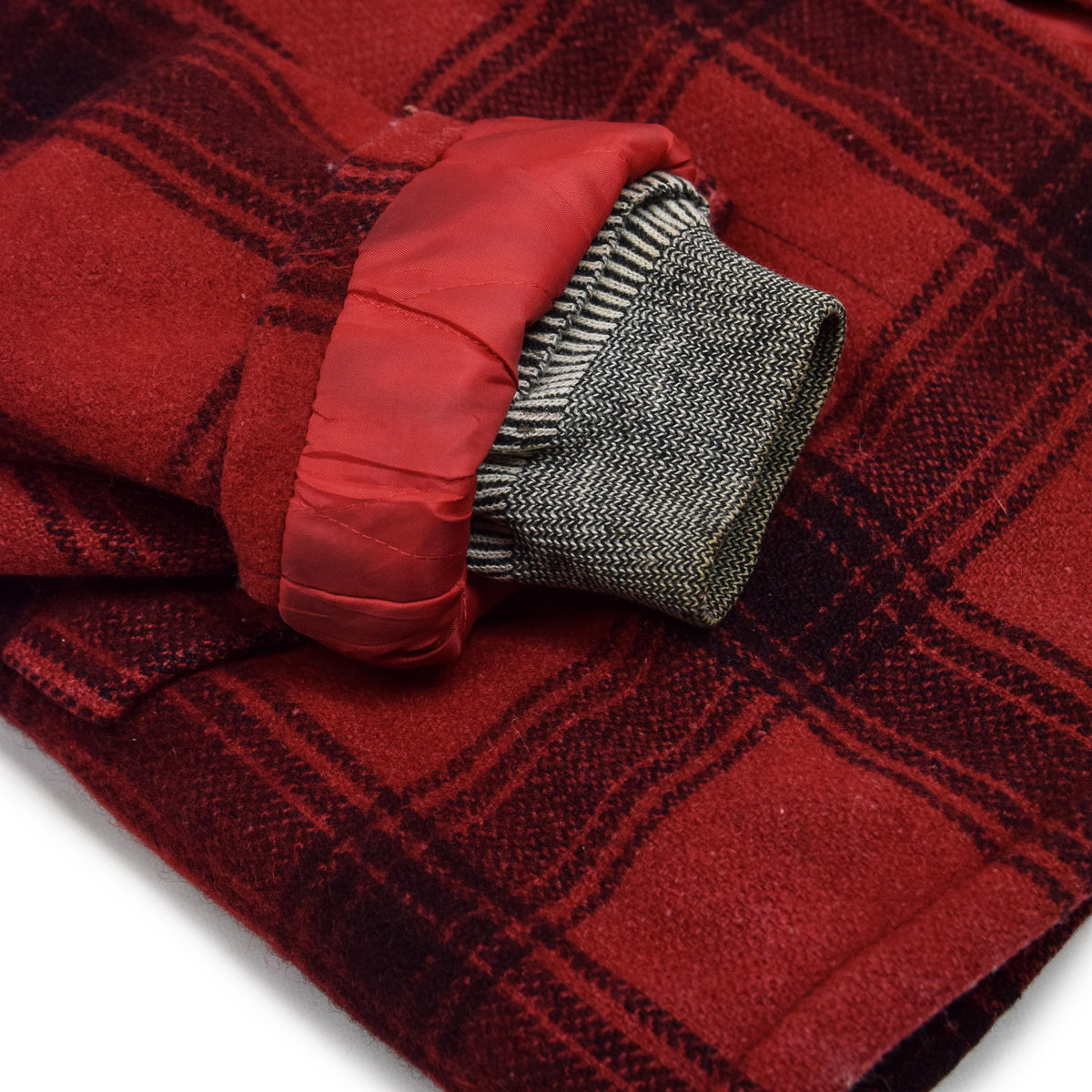 Vintage 40s 50s Penneys Foremost Wool Plaid Hunting Jacket L cuff
