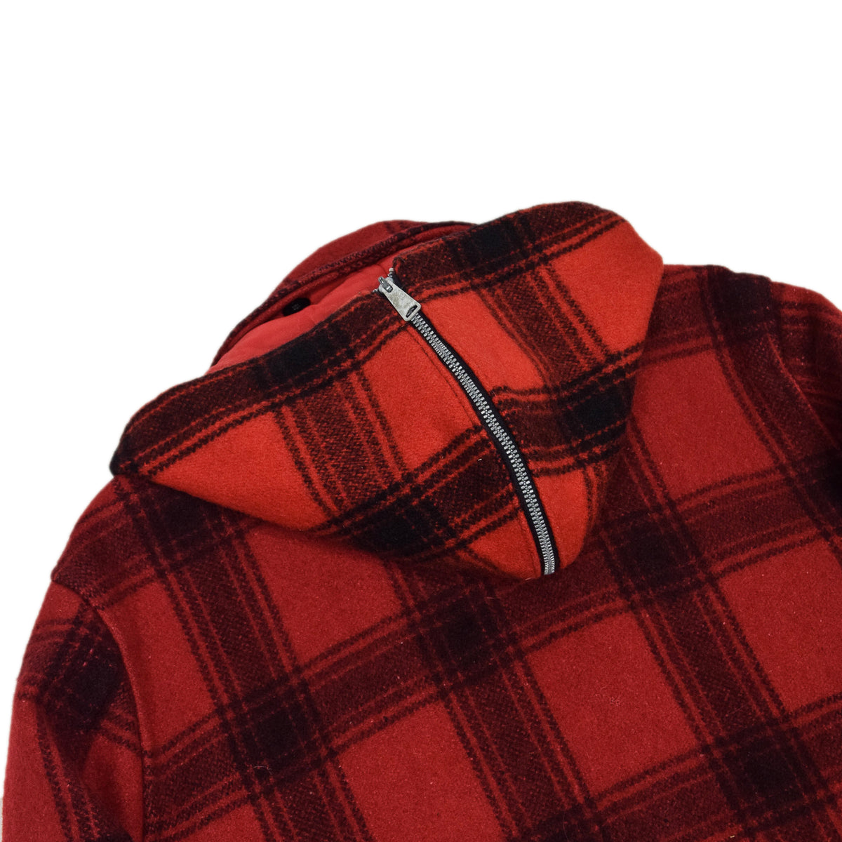 Vintage 40s 50s Penneys Foremost Wool Plaid Hunting Jacket L hood