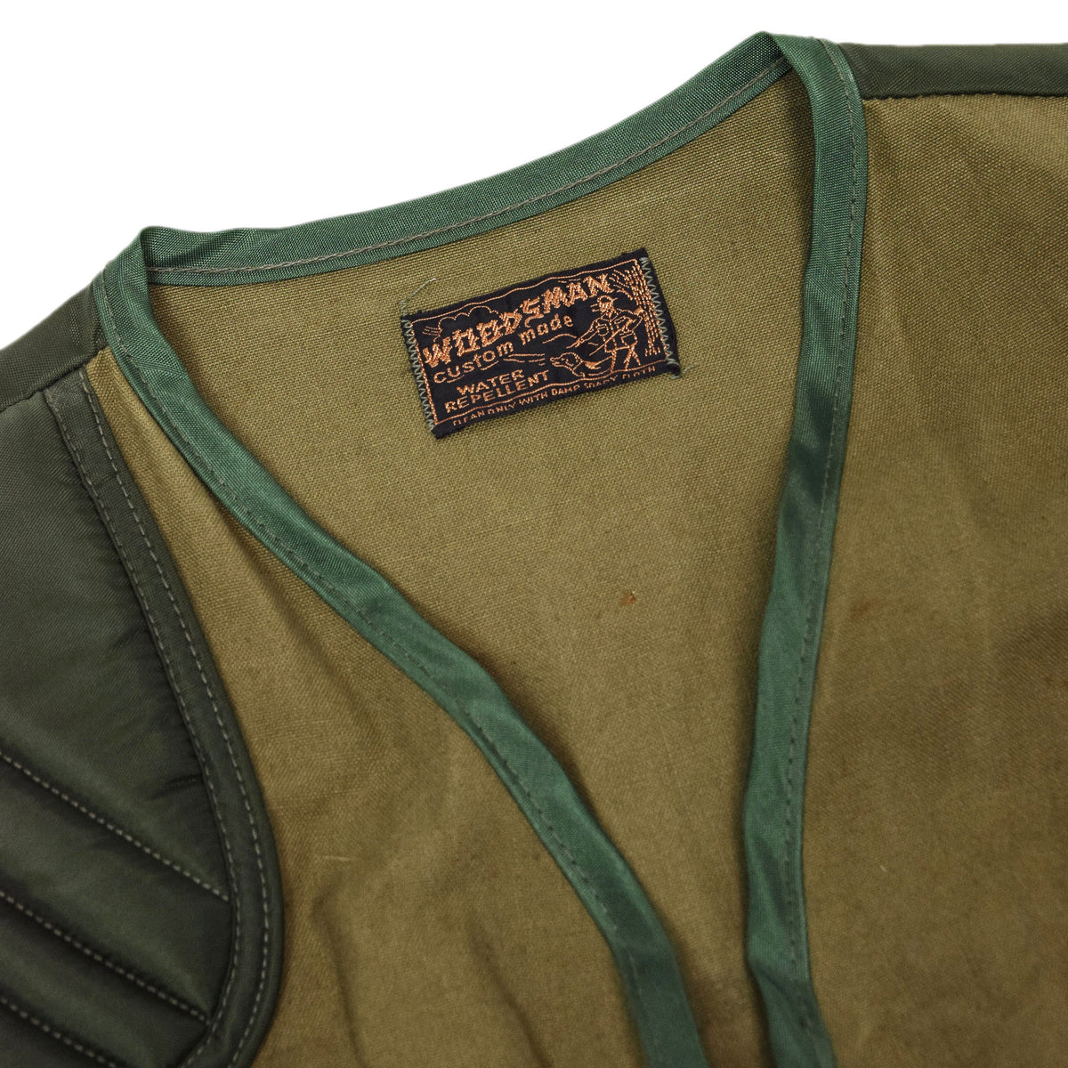 Vintage Woodsman Hunting Shooting Vest Waistcoat Green M / L label