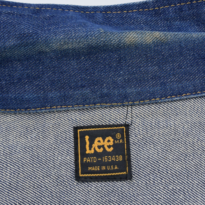 Vintage Lee Riders Indigo Blue Denim Trucker Style Jacket Made in USA XS / S label
