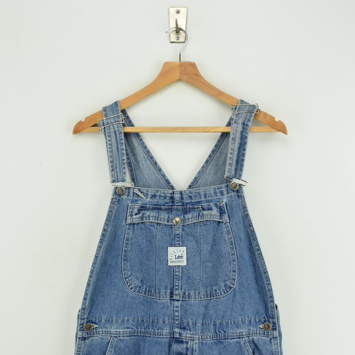 Vintage Lee Riveted Denim Workwear Dungarees Made in USA Overalls Trousers M chest