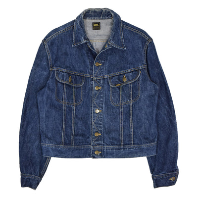 Vintage 70s Lee Riders Stonewash Blue Denim Trucker Jacket Made in USA M front