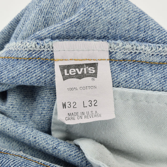 Vintage Levi Red Tab 505 Stonewash Blue Denim Jeans Pant Made in USA 30 W 33 L label