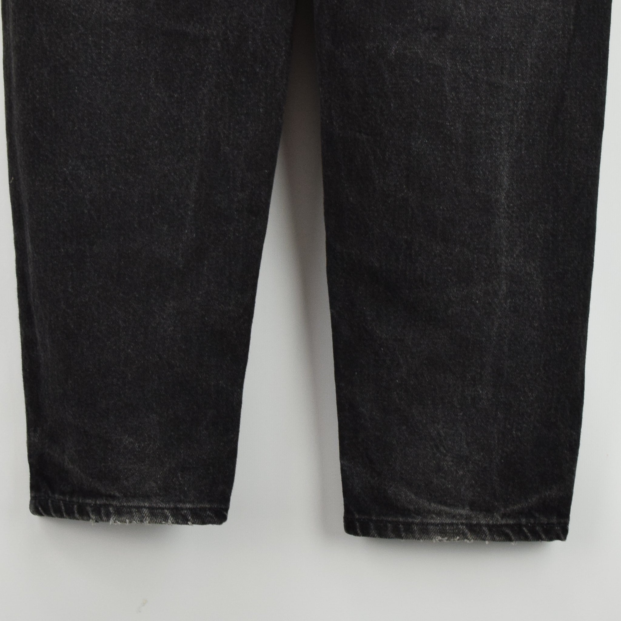 Vintage Levi Red Tab Washed Black Denim Jeans Pant Made in Canada 30 W 32 L back hem]