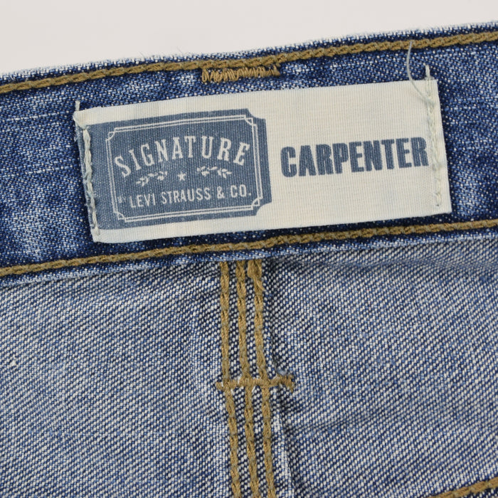 Vintage Levi Signature Blue Denim Jeans Carpenter Work Trousers 30 W 32 L label