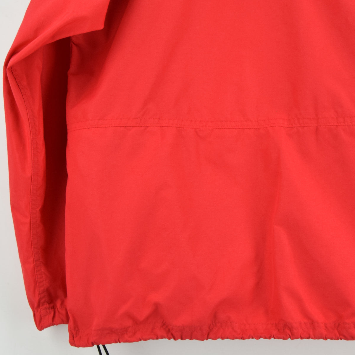 Vintage LL Bean Red Hooded Nylon Cagoule Unisex Jacket Made in USA S back hem