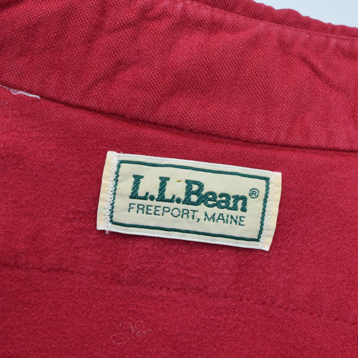 Vintage LL Washed Red Pink Brushed Cotton Flannel Shirt Long Sleeve L label